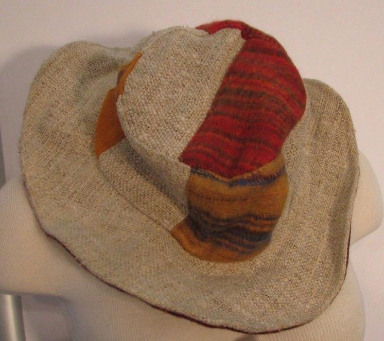 NEW Friendly Folks Reversible Patch HEMP and Brushed COTTON HAT Hippie Fav #2