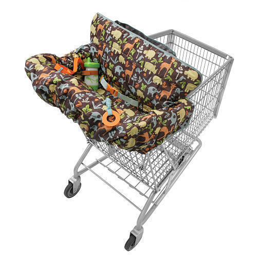 Infantino Compact 2 in 1 Shopping Cart Cover 100% Polyester Fiber Imported New