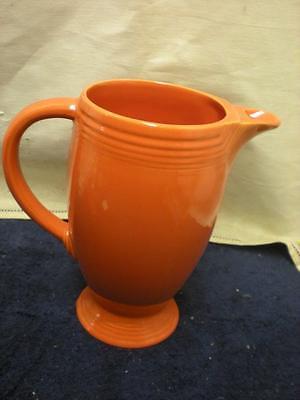 Vintage Fiestaware Red Orange Pitcher - Fiesta Water Pitcher~ Ex. Cond