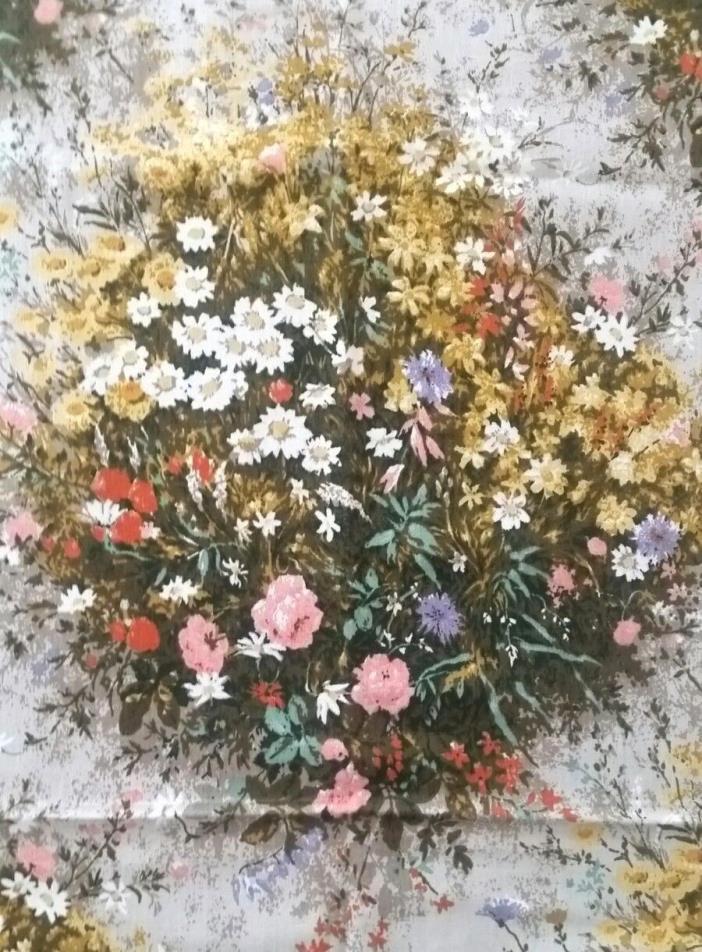 Vintage Wildflowers House N Home Fabric 1 1/3 Yards 46