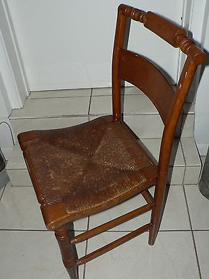 Antique Vintage Shaker Cane Chair Turned Back Hitchcock Style Chippendale