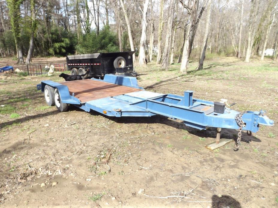 No Title - Heavy Equipment Trailer Skid Steer Compact Tractor Hauler 23 x 6.5