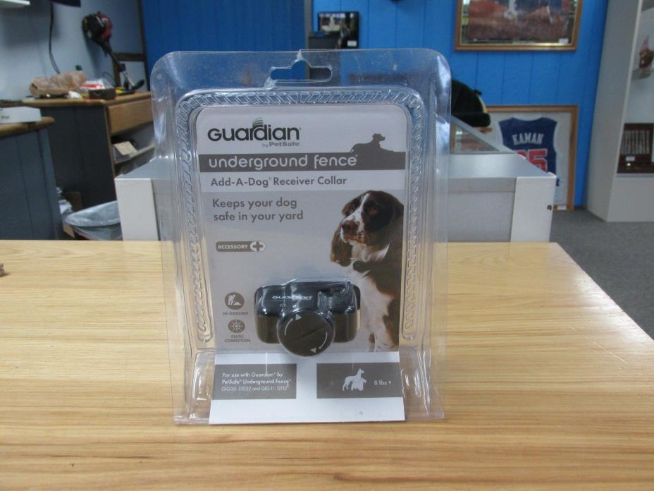 New: Guardian Underground Fence Add-A-Dog Receiver Collar 8 lbs+ ~FreeSH 704193~
