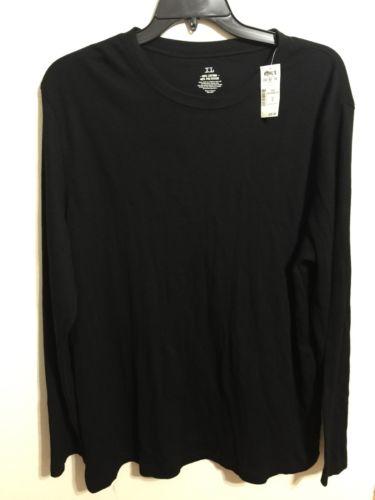 Mens Black Thermal Pajama Top Size XL