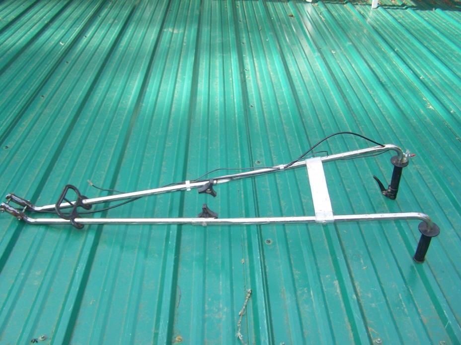 Mantis Rototiller Tiller ~FOLDING HANDLE BARS W/ THROTTLE ASSEMBLY & SWITCH