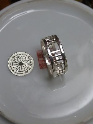 MOTHER'S DAY SPECIAL 925 Sterling Silver Roman Numberals/number Ring Size 8 USA