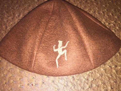 Vintage-GIRL SCOUT BROWNIE HAT Free Shipping Beautiful Condition