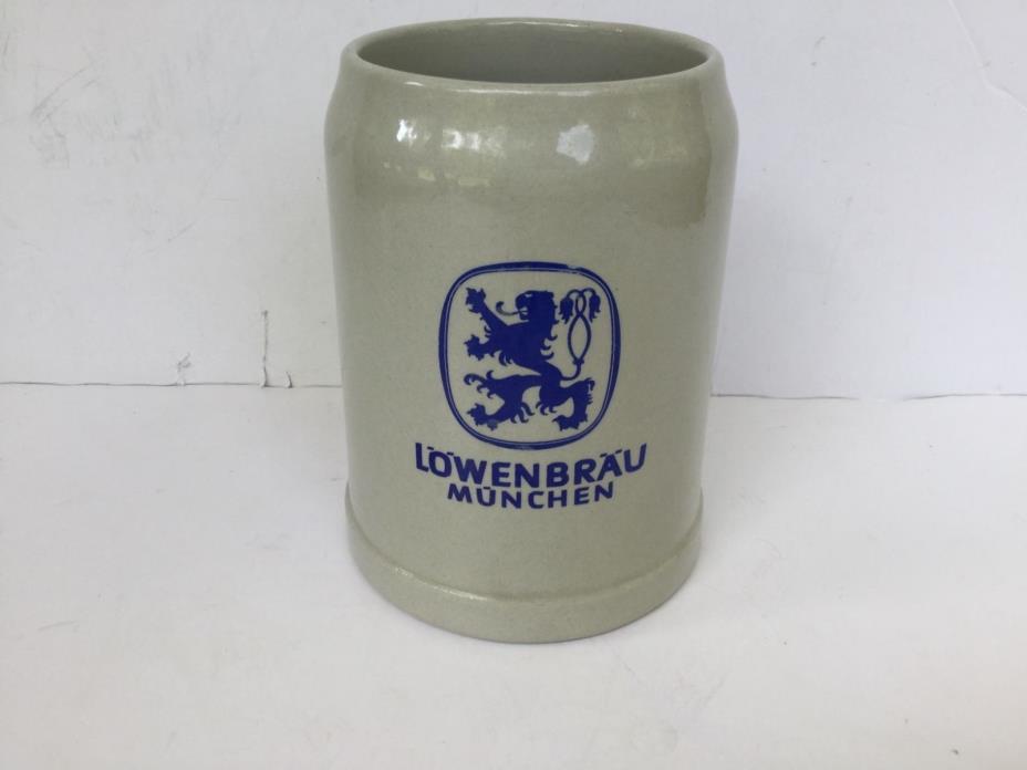 Lowenbrau .5 Liter Glazed Stoneware Beer Stein Mug Munich Germany