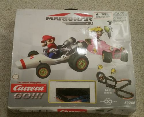 Carrera Go Mario Kart DS 1:43 Scale Slot Car Racing Track B Dasher And Peach