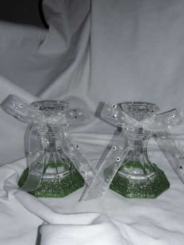 Wedding candle stick holder set
