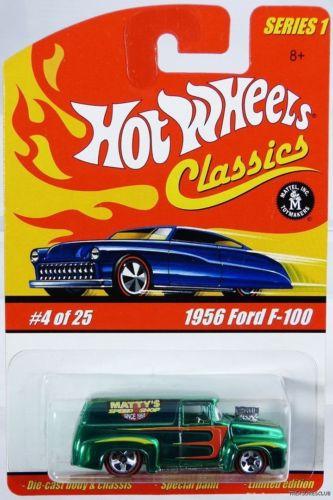 Hot Wheels 1956 Ford F-100 Classics Series 1 #H7069 New 2004 Green 8+ 1:64