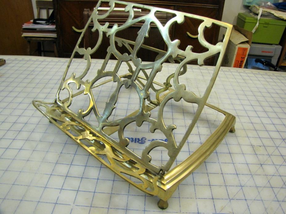 BRASS BIBLE BOOK STAND ADJUSTABLE