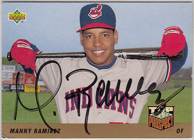 Manny Ramirez SIGNED 1993 Upper Deck Baseball Card - Indians & Red Sox Star