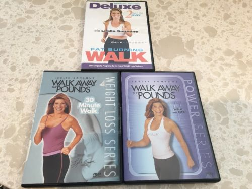 Lot Of 3 Exercise DVDs Walk Aerobics / Walk Away The Pounds