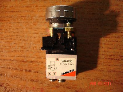 Camozzi Pneumatic Push Button Switch, 234-000 Switch Black