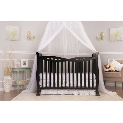 Black Baby Infant 7 In 1 Convertible Toddler Day Bed, Full Size Bed Crib
