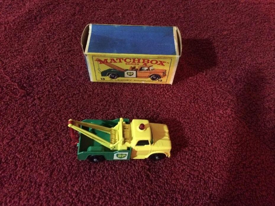 Vintage Matchbox Lesney #13 BP Dodge Wreck Truck NIB