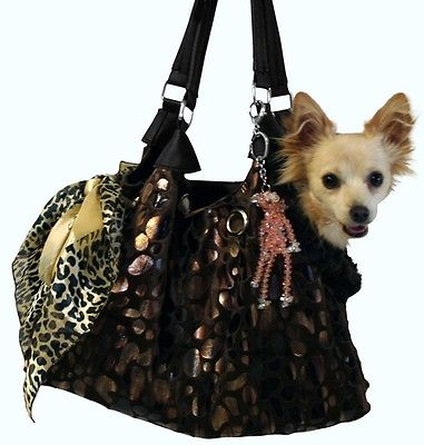 DOG PET CARRIER Dog Purse Handbag Pouch Tote for dogs 5-16 lbs PET FLYS USA MADE