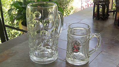 Vintage German Beer Glass Mugs ,2, Lowenbrau and Becks