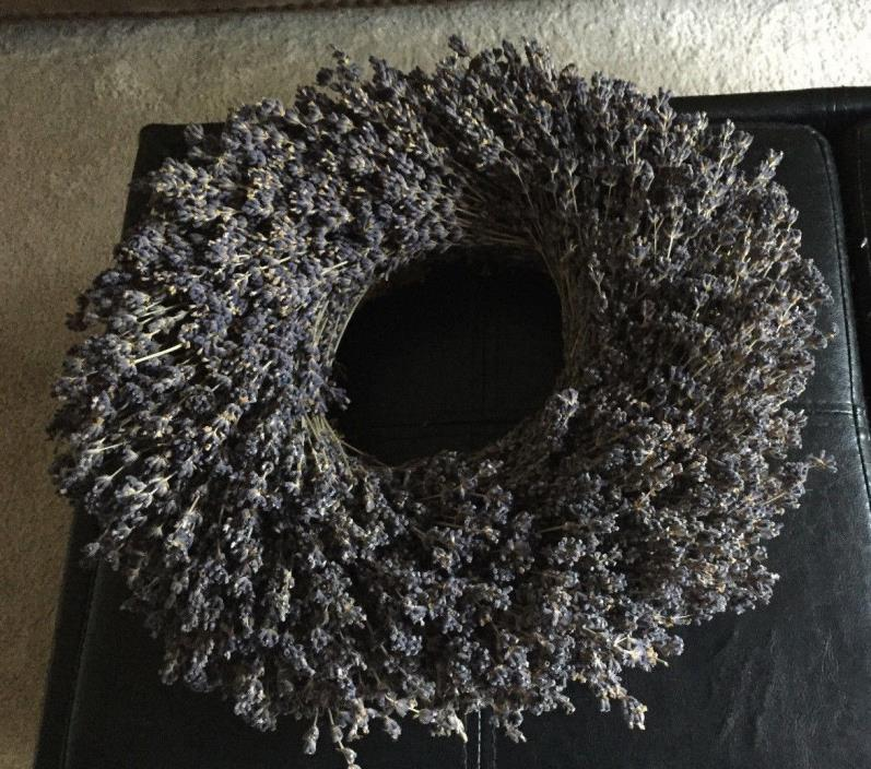 DRIED FLORAL LAVENDER WREATH,  HANDMADE IN NORTHERN CALIFORNIA