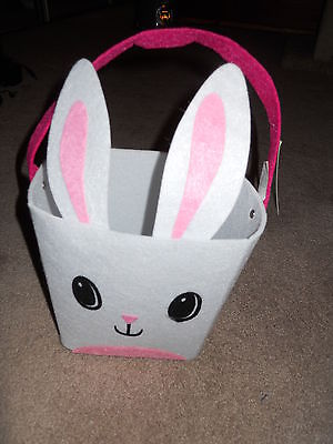 Easter Bunny Basket White NWT
