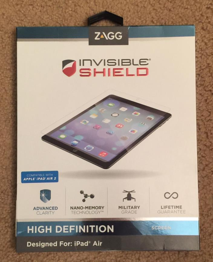 Zagg Invisible Shield High Definition Screen Protector iPad Air (2) Clarity Comp