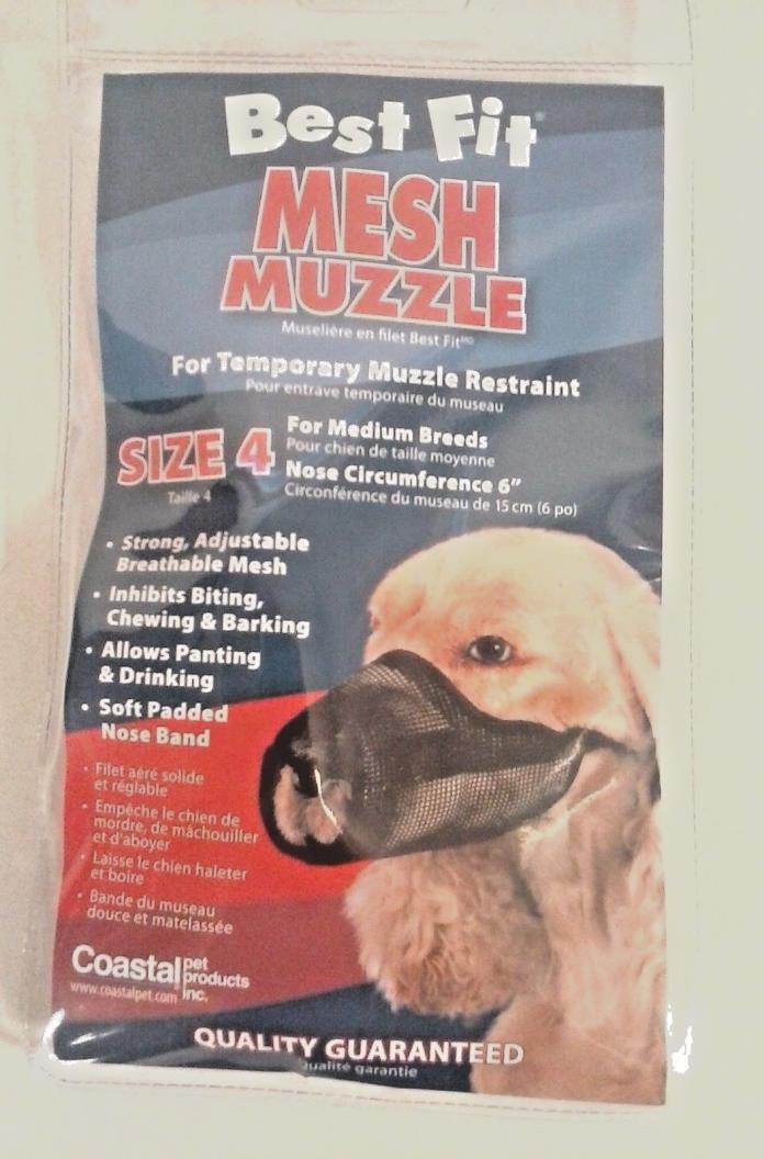 NEW BEST FIT DOG MUZZLE MESH SIZE 4