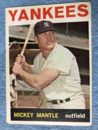 1964 Topps Baseball Card #50 Mickey Mantle - Ex+/NM Nice Card New York Yankees