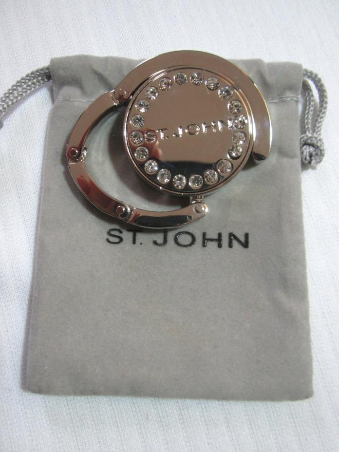 St John Swarovski Rhinestone Purse Handbag Holder Hanger Hook