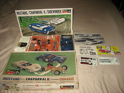 1/24 MONOGRAM MUSTANG 350GT/ CHAPARRAL 2 SLOT CAR KIT