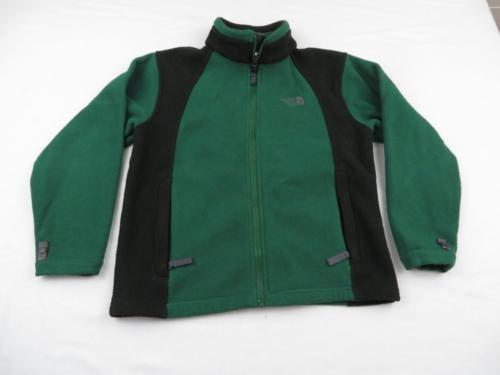 Highly Used Northface Boys Green Fleece Zip Jacket Coat Youth Sz M(10/12) Gift!