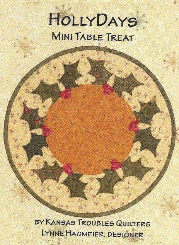 Kansas Troubles Quilters 'HollyDays Mini Table Treat' Christmas holly berries