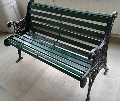 Ornate Vintage Cast Iron Garden Park Bench,  LOCAL PICKUP ONLY