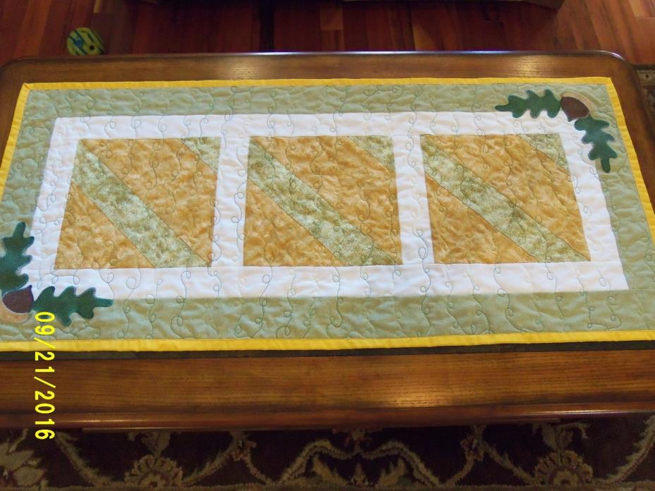 Quilted Table Runner~ Holiday Table Decor~ Table Linens~ Kitchen Decor~Table top