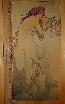 Antique Alphonse Mucha Seasons Poster Panel