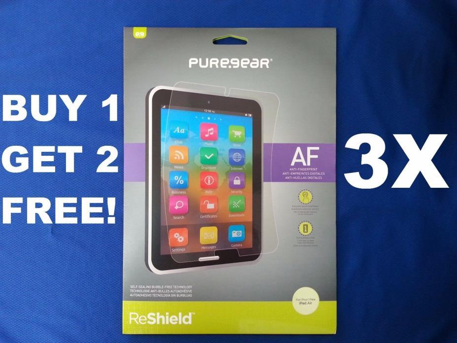 3x Premium Screen Protector for Apple iPad Air 1 2 ANTI-FINGERPRINT Film Cover