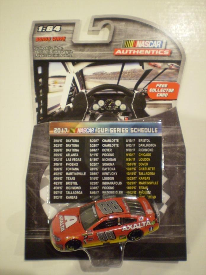 NASCAR AUTHENTICS 2016 *DALE EARNHARDT JR #88*Axalta Car with 2017 Schedule Card