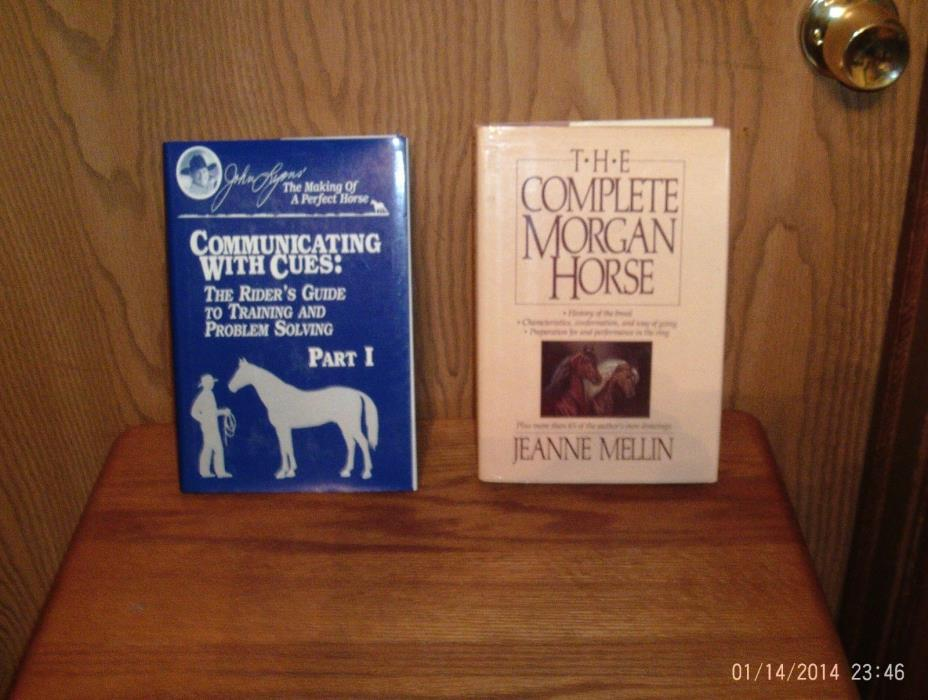 2 HORSE BOOKS JOHN LYONS COMMUNICATING WITH CUES / THE COMPLETE MORGAN J. MELLIN