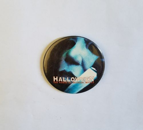 RARE 1995 HALLOWEEN THE CURSE OF MICHAEL MYERS MOVIE PROMO BUTTON - HORROR PIN