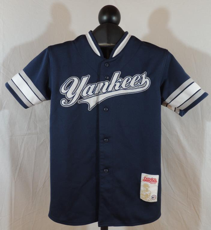 Stitchers Athletic Gear Med Youth Yankees Blue & White Baseball Jersey
