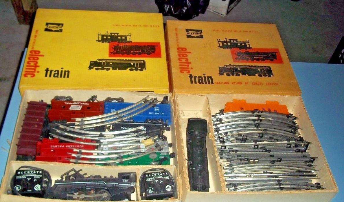 Vintage All State Electric Train Sets Lot Sears 1960s Boxes Engine 9715 9735