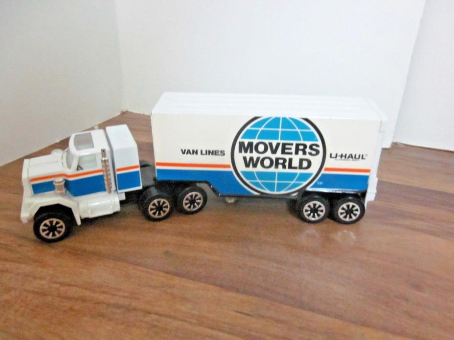 Movers World U-HAUL Van Lines Tractor  Trailer --  Clover Toys1970's