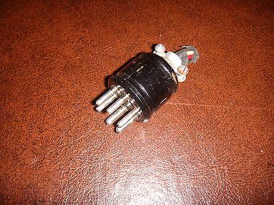 Vintage 6 Pin Male Amphenol Plug Leslie Hammond Organ Baldwin