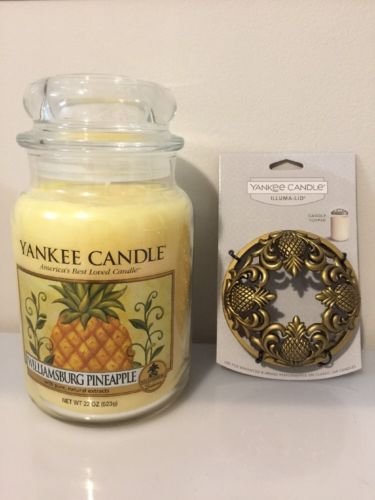 Yankee Candle Large Jar - Village Exclusive - Williamsburg Pineapple with Lids