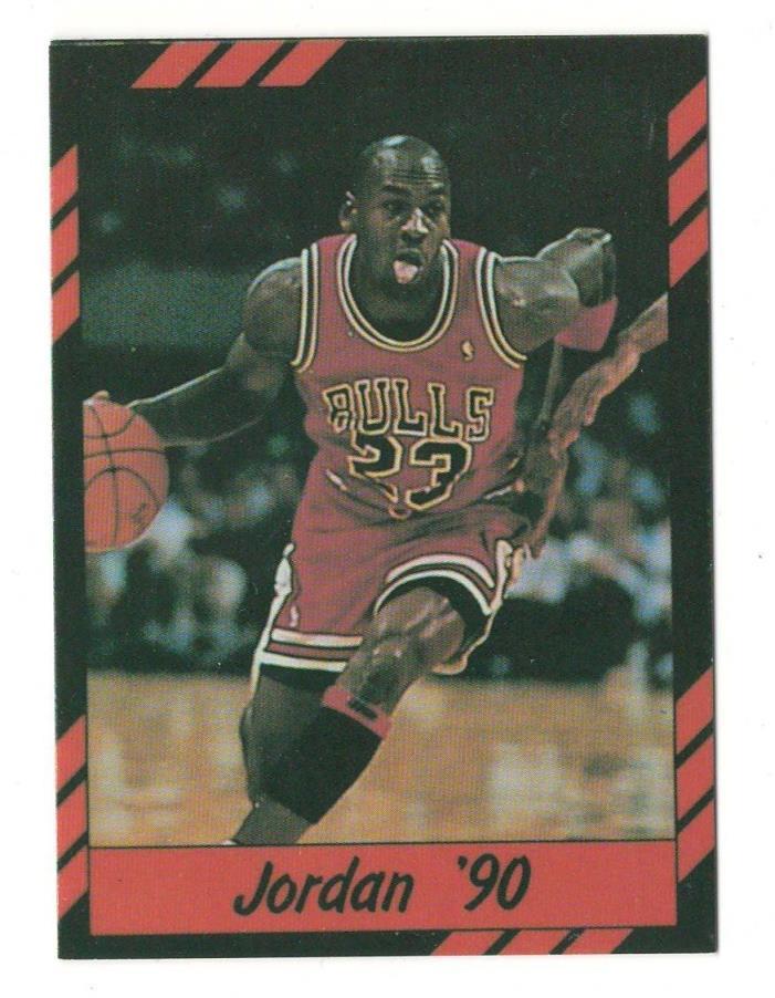 1990 Broder MICHAEL JORDAN Chicago Bulls HIGHLIGHTS Red & Black Oddball Card 23