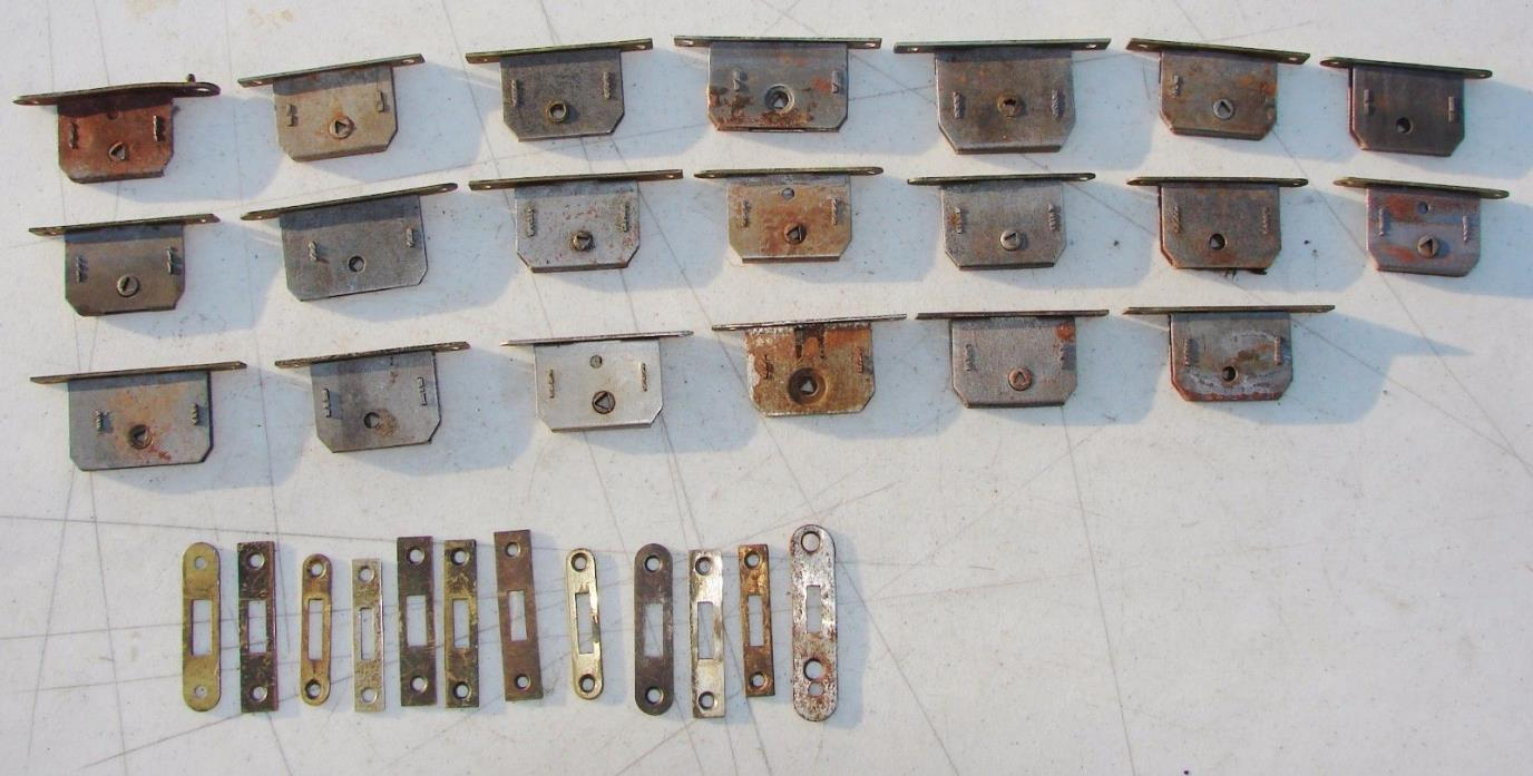 20 Full Mortise Drawer Cabinet Furniture Locks Antique Used Salvage Hardware