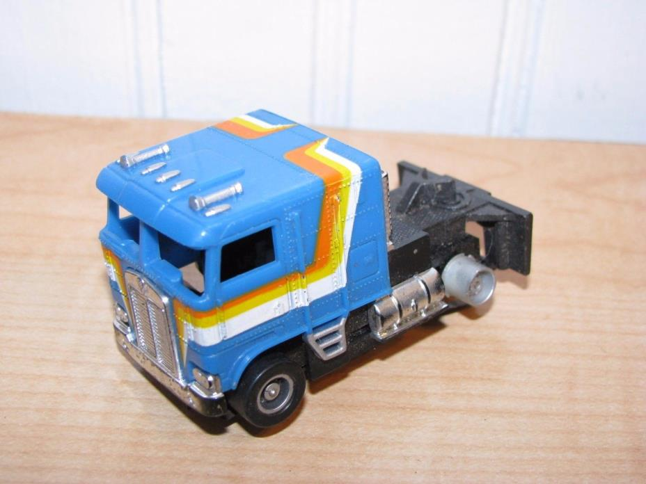 TYCO Kenworth Cabover Cab Over Semi Truck Cab Slot Car Blue HO