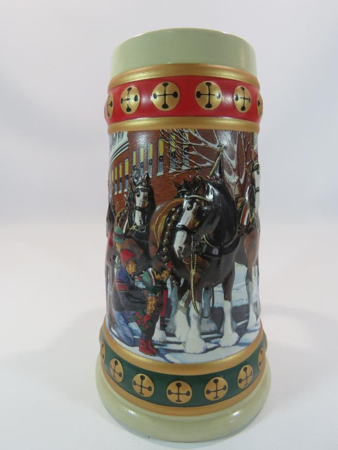 1993 Budweiser Holiday Stein Collection Hometown Holiday