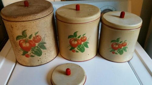 Vintage Kitchen Canister - Maid of Honor - APPLES-