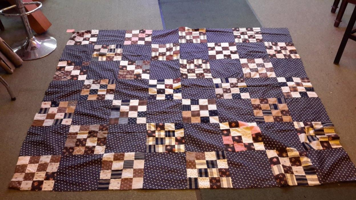 Early 1900's Hand Sewn Quilt Top